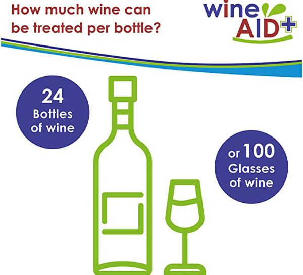 How much wine can be treated