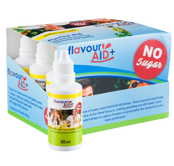 Flavour Aid Lemon & Lime 12 pack packaging