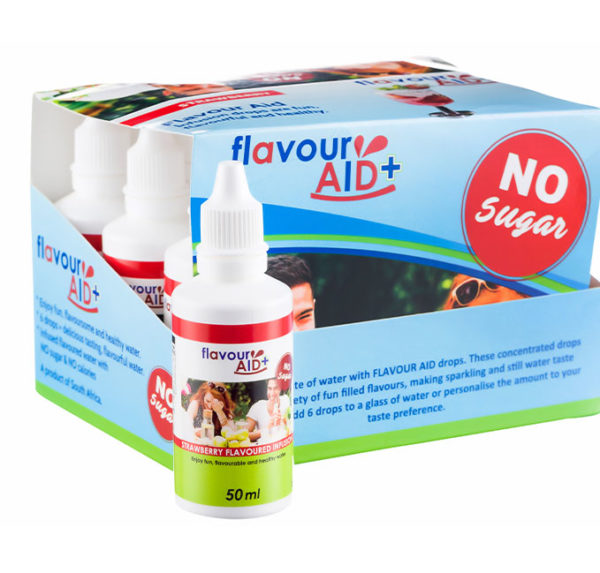 Flavour Aid Strawberry 12 pack packaging